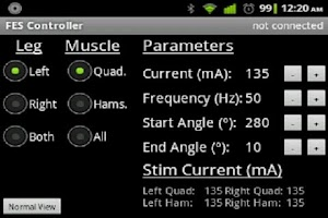 Screenshot of FES Cycling Controller