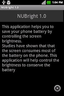 NUBright 1.1 - screenshot