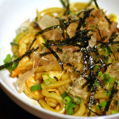 Yaki Udon With Shrimp