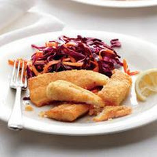 Catfish with Carrot-Cabbage Slaw