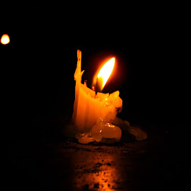 Candle by Sristi Yadav - Novices Only Objects & Still Life ( candle, dark, night, yellow, light, flame )