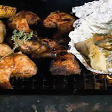 Levi Roots' jerk BBQ chicken