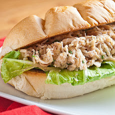Slow Cooker Chicken Caesar Salad Sandwiches