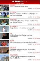 Screenshot of Abola sports newspaper