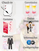 Screenshot of Check-in Casamento