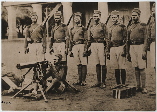 British Native African soldiers from the Gold Coast
