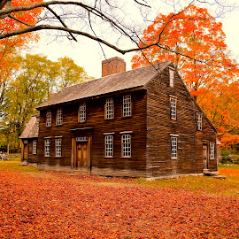 Hartwell Tavern by Carlo Resty Sunga - City,  Street & Park  Historic Districts ( fall leaves on ground, inspiration, moods, nature, colorful, color, january, emotions, fall, happiness, vibrant, mood factory )