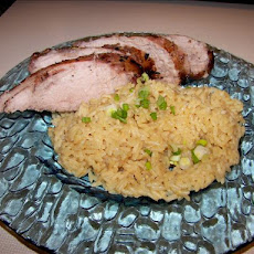 Greek-Style Marinated Pork With Lemon Rice