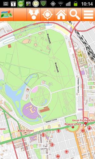 London Offline mappa Map