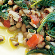 Black-Eyed Peas with Spinach Recipe