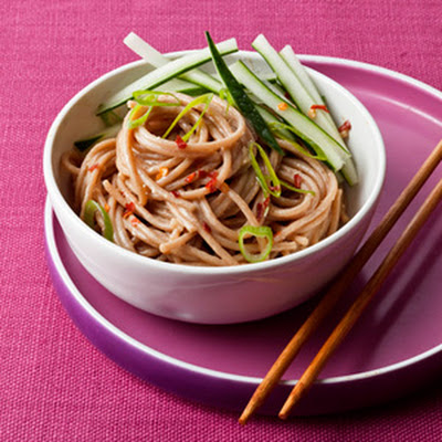 Warm Peanut and Sesame Noodles