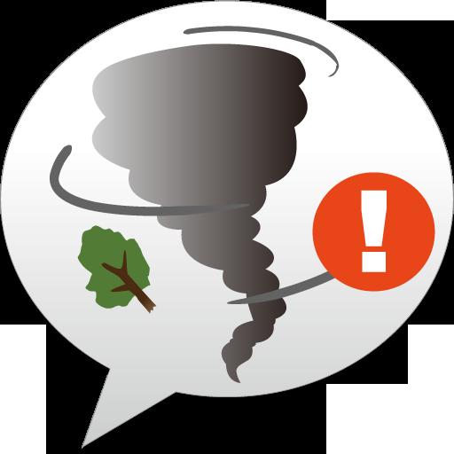 竜巻アラート - お天気ナビゲータ 天氣 App LOGO-硬是要APP