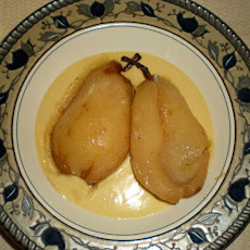 Roasted Pears with Chai Spiced Creme Anglaise