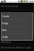 Screenshot of Army Creeds & Info Free
