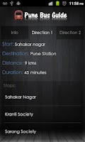 Screenshot of Pune Bus Guide