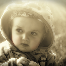 lighting the way by Debra Lynde - Babies & Children Toddlers ( curious, girl, baby, light, reflective,  )