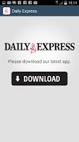 Screenshot of Daily Express Updater