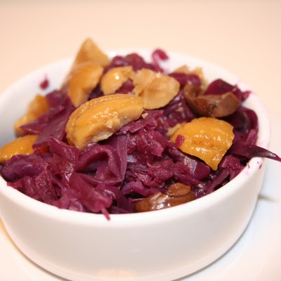 Braised Cabbage With Roasted Chestnuts