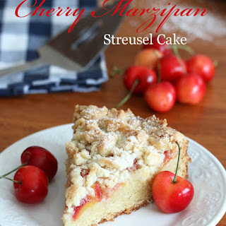 Cherry (MARZIPAN) Almond Streusel Cake