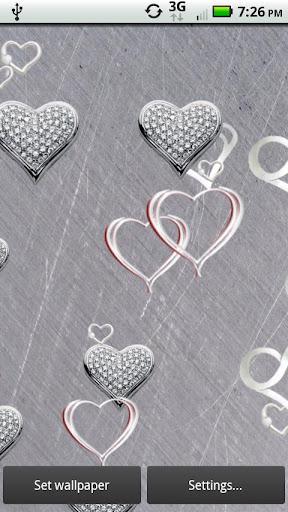 Contemporary Silver Hearts