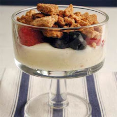 Vanilla Custard Crumble with Mixed Berries