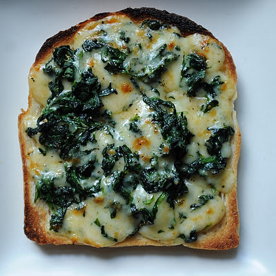 Welsh Rarebit with Spinach