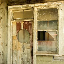 door of many colors by Eva Ryan - Buildings & Architecture Architectural Detail ( broken, old, wood, window, glass, door,  )