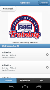 F45 Training Newcastle - screenshot