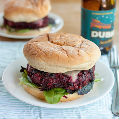 Best-Ever Beet and Bean Burgers