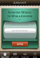 Screenshot of Kirkland's Spin to Win