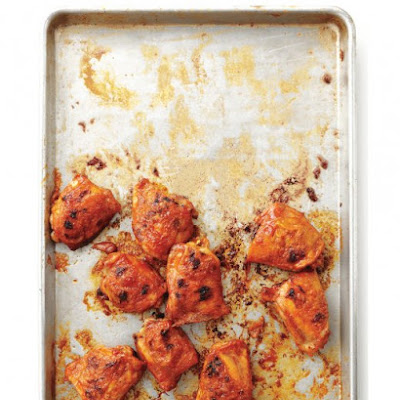 Sticky Orange-Glazed Chicken Thighs