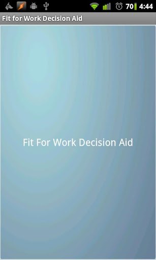 Fit for Work Decision Aid