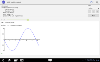 Screenshot of Sage Math