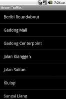 Screenshot of Brunei Traffics
