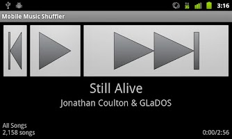 Screenshot of Mobile Music Shuffler