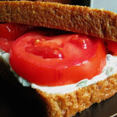 Heirloom Tomato Sandwich With Basil Mayo