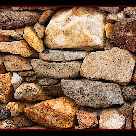 stone fence by Smith Marius - Buildings & Architecture Other Exteriors ( structure, wet, rocks )