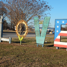 LOVE IN HOPEWELL by TONY LOPEZ - Artistic Objects Signs ( amor, love, america, american, peace, street, virginia, letters,  )