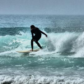 Determination by Ben Hobson - Sports & Fitness Surfing ( spray, surfing, waves, beach, surf )