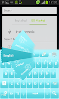 Screenshot of Snow Keyboard