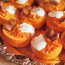 Mashed Yams in Orange Cups