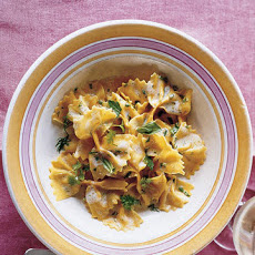 Carrot Farfalle Pasta with Lemon and Herbs