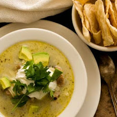 Turkey enchilada verde soup