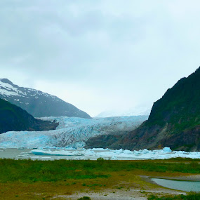 Mendenhall Glacier by Jason Kiefer - Landscapes Mountains & Hills