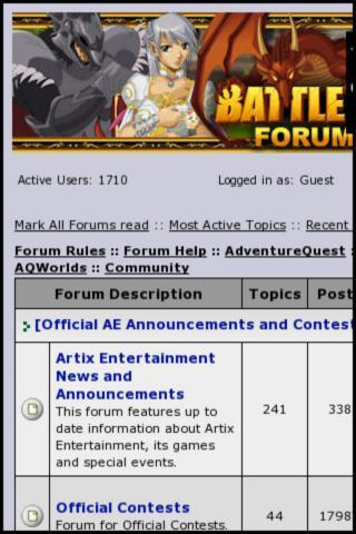 Artix Entertainment Forums