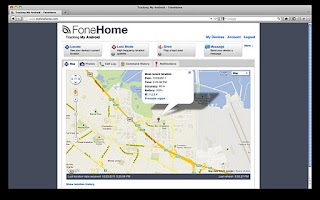 Screenshot of FoneHome