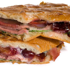 Smoked Duck and Cherry Pressed Sandwich
