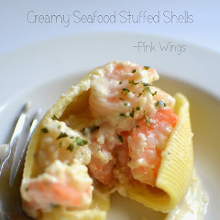 stuffed shells three cheese stuffed shells with creamy white sauce ...