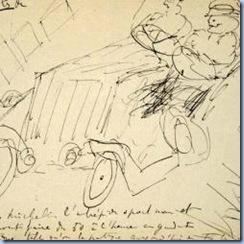 Tinta sobre papel, sem título. Marcel Proust.