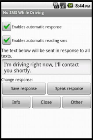 自動應答和讀取訊息